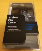 Original Samsung S-View Flip for Note 9 Cover Case with Kickstand - Black OEM