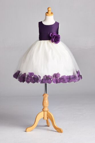 New Petal Puffy Princess Flower Girl Birthday Recital Pageant Toddler Dress#22