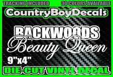 Backwoods Beauty Queen Vinyl DECAL STICKER Car Truck Country Diesel Girl Farm