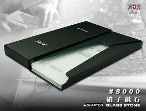 Shapton-Sharpening-Glass-Stone-8000-Grit-HR-for-Knife-Razor-hone-renew-Cutlery