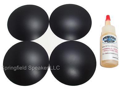 "2 Piece 3.25/"" Inverted Poly Speaker 2DCPL325iG Subwoofer Dust Cap Kit"