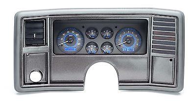 Dakota Digital 78-88 Chevy Monte Carlo Analog Gauges Carbon Blue VHX-78C-MC-C-B