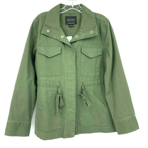 Sanctuary Anthropologie M Olive Green Military Uti