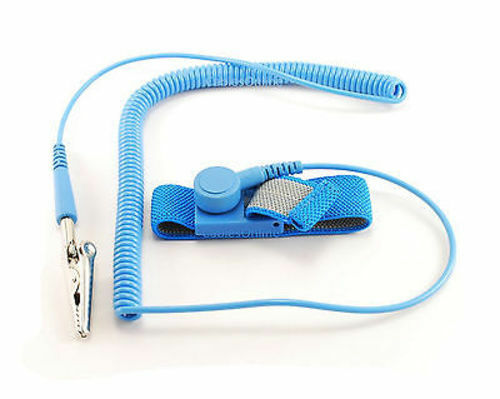 Blue TL-AS1B Anti-Static Grounding Strap Wrist Band w// 6ft Coil Cord