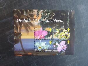 2005-MONSERRAT-ORCHIDS-OF-THE-CARIBBEAN-4-STAMP-MINI-SHEET-MNH