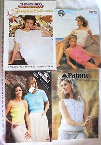 Knitted-LADIES-Summer-Tops-Sirdar-Patons-Carousel-Choice-4-Books-ShSum-8