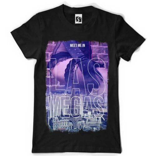 SB033 - Black Tee Exclusive Men/'s T-Shirt Meet me in Las Vegas Design