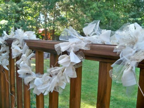 shabby Christmas Thanksgiving Wedding fabric Ivory Garland 20ft. Decor chic