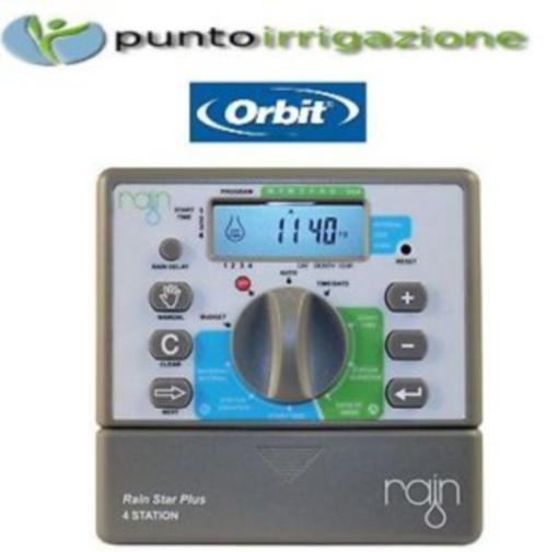 Rain Star Plus 4 Centralina Programmatore Orbit 4 Stazioni 24v Irrigazione
