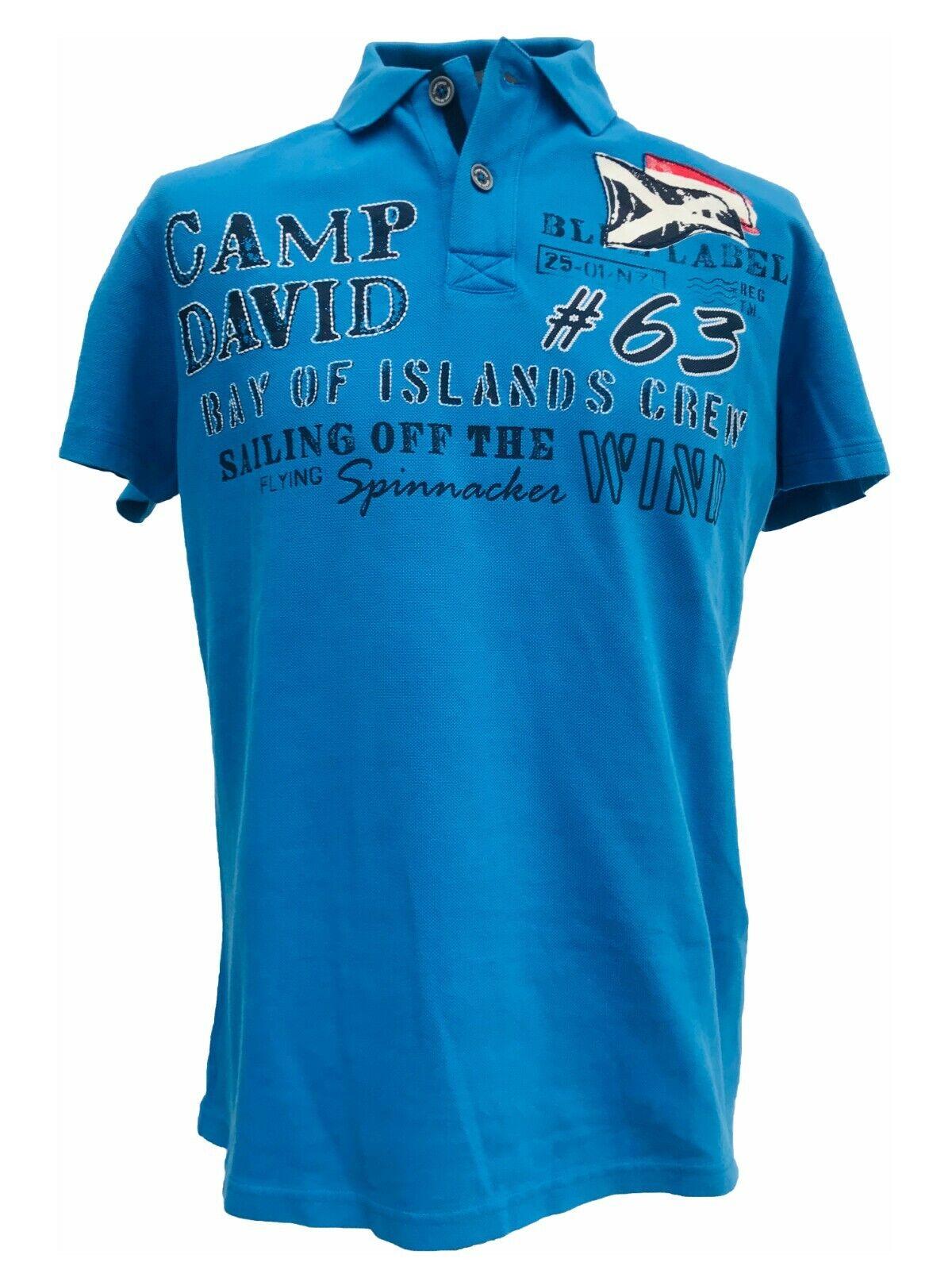 NEU Camp David Herren Poloshirt Big Deal I FS 18  Shirt Polo kurzarm M - XXXL   Tadellos
