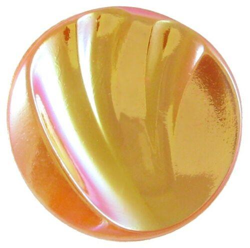 Vintage Medium Size Orange Moonglow Glass Button w// Aurora Luster