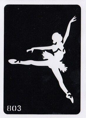 GT803 Body Art Temporary Glitter Tattoo Stencil  Ballet Dancer