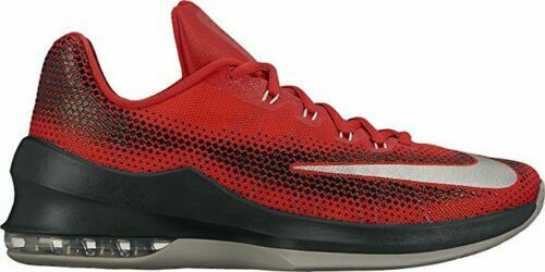 Nike Men's AIR MAX INFURIATE LOW Basketball Shoes Red Black White Size 14