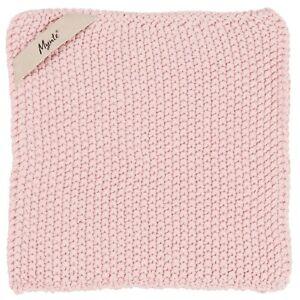 Ib-Laursen-Mynte-Potholder-Pink-Rose-Knitted-Kitchen-Cooking-Oven-Gloves