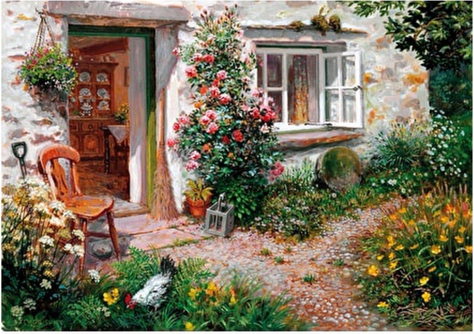 Wentworth 500 pièces en bois Puzzle roses autour de la porte adulte Challenge