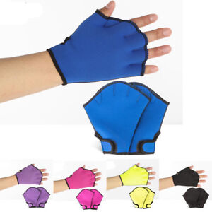 Diving-Swimming-Solid-Surfing-Webbed-Gloves-Training-Fins-Hand-Paddle-Surfing