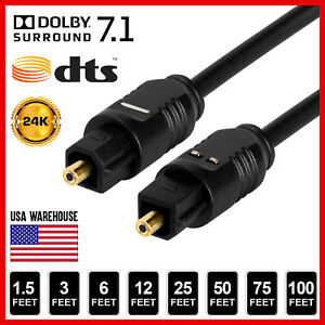TOSLink-Fiber-Optical-Optic-Digital-Audio-Cable-SPDIF-Sound-Bar-Cord-Lot