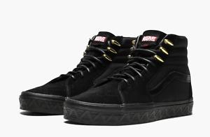 aff00a733b Vans x Marvel Sk8-Hi Black Panther Black Sneakers Men Womens Shoes ...