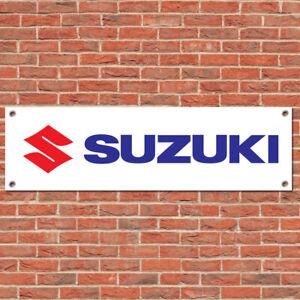 Suzuki Racing Motorcycle Car Trackside Sign Garage Workshop Banner Display