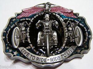 Live-pour-Ride-motard-3-Motos-AIGLE-boucle-ceinture-Fix-propre