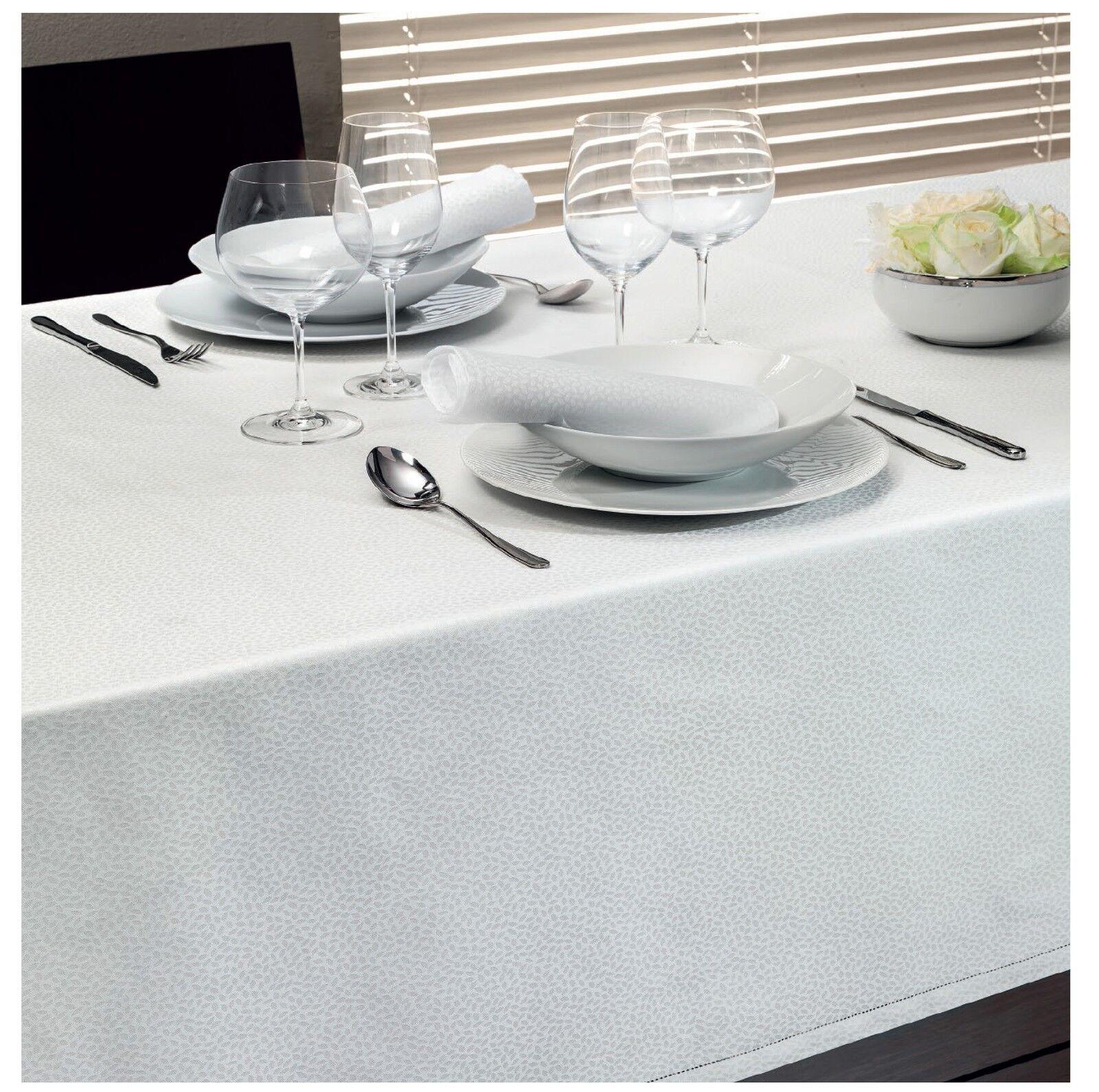 Servizio tavola tovaglia da 12 tovaglioli Jacquard di cotone VALLESUSA – Clichy