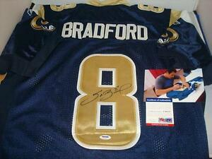 Details about Sam Bradford signed St Louis Rams jersey - PSA/DNA Authentic - Young QB Star