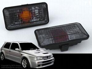SCHWARZE-Seitenblinker-VW-Golf-3-Vento-Cabrio-Passat-VR6-16V-G60-B3-35i-Rallye