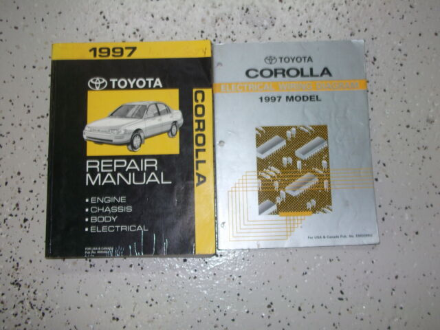1997 Toyota Corolla Service Repair Workshop Shop Manual