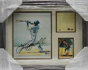 JEFF-BAGWELL-SIGNED-AUTOGRAPHED-8X10-FRAMED-PHOTO-COLLAGE-BECKETT-BAS-C87607