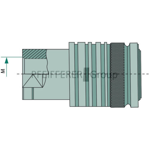 """KM-IR Embrayage Manchon filetage interne PNB KM 3//8 dn12-bg3 g3//8/"""""""