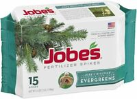 Jobe`s 1611 Evergreen Outdoor Fertilizer Food Spikes, 15 Pack , New, Free Shippi on sale