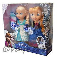 Disney Frozen   Snow Glow Elsa & Anna Singing Sisters Dolls   Lights, Songs.