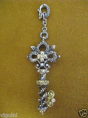 BARBARA BIXBY DIAMOND KEY ENHANCER PENDANT FLOWER DISCOVERY GIFT DESIGNER