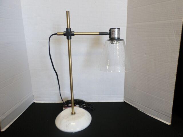 Pottery Barn West Elm Small Pillar Desk Side Table Lamp