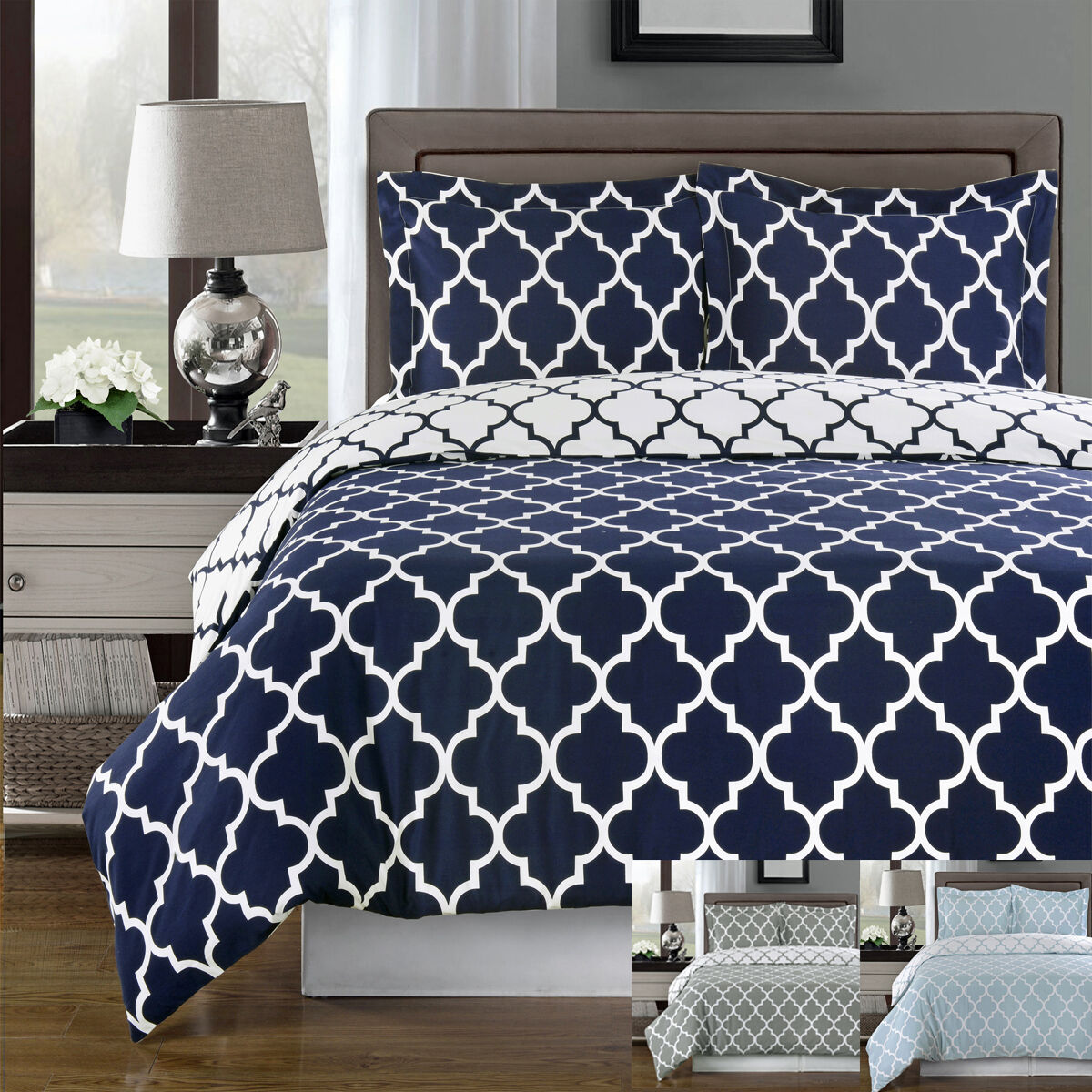 Meridian 8 Piece Bed in a Bag Contemporary print 100 % Cotton
