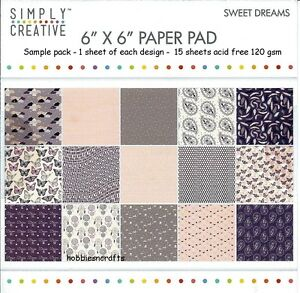 SIMPLY-CREATIVE-SWEET-DREAMS-PAPERS-6-X-6-SAMPLE-PACK-120-GSM-15-SHEETS