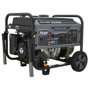 Pulsar 6500 Peak/5500 Rated Watts Gas/LPG Dual Fuel Portable Generator RV Ready