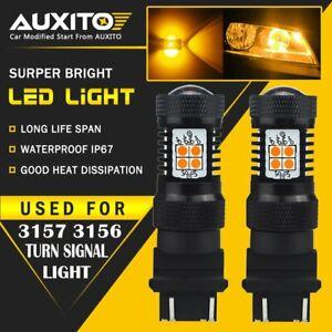 3157 4157 4057 Turn Signal Blinker Corner Light bulb Canbus LED Amber Yellow 2PC