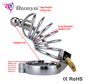 Stainless-Steel-Male-Chastity-Cage-with-Urethral-Plug-chastity-Bondage-device