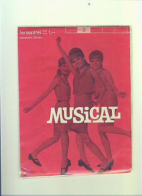 Puntuale Vecchio Nylon Calze * Musical * Tg. 9 * Straps Calze Perlons Protestava Stockings (211-mostra Il Titolo Originale