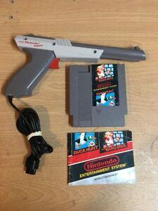 Nintendo-NES-Zapper-Light-Gun-Plus-Super-Mario-Bros-Duck-Hunt-Game-Cartridge