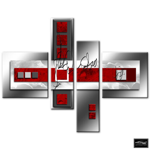 Abstract Modern Red BOX FRAMED CANVAS ART Picture HDR 280gsm
