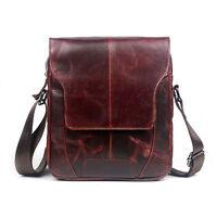 Men Genuine Leather Business Shoulder Bag Travel fashion Cross Body Pack