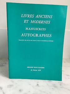 Catalogue-de-vente-Livres-anciens-et-modernes-Manuscrits-Autographes-1979