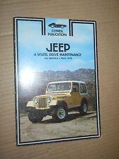 Clymer A234 JEEP 4-Wheel Drive Maintenance - All Models 1969-1978