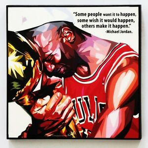 Michael Jordan Canvas Quotes Wall Decals Photo Painting Framed Pop