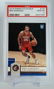 2016-Panini-Excalibur-Ben-Simmons-ROOKIE-RC-134-PSA-10-GEM-MINT