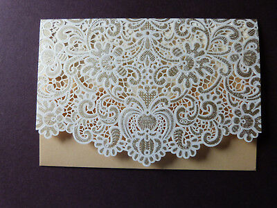Beautiful Ivory diamante wedding//Birthday gift wallet for money//vouchers//tickets