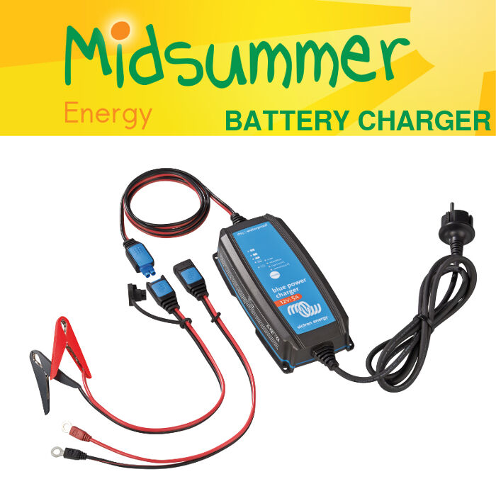 Victron 12V BlauPower IP65 AC Battery Charger - leisure deep-cycle 5A 7A 10A 15A