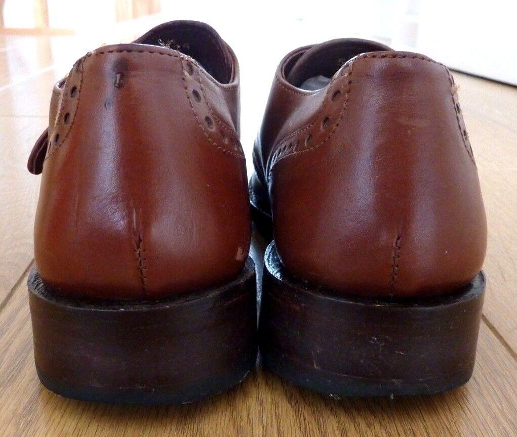 Samuel Windsor Leather Men Hand Made Brogues Monk Strap Brown Leather Windsor Shoes UK 6 4c123b